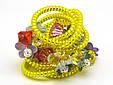 Резинка спираль силиконовая с цветами, фото 7