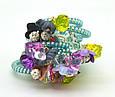 Резинка спираль силиконовая с цветами, фото 9