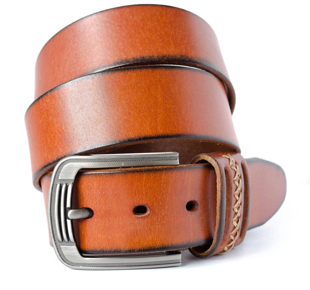 Классический мужской кожаный ремень под джинсы (11232)