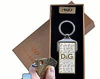 Спиральная USB зажигалка-брелок Dolce and Gabbana №4824-1, подарочная упаковка, спираль накаливания