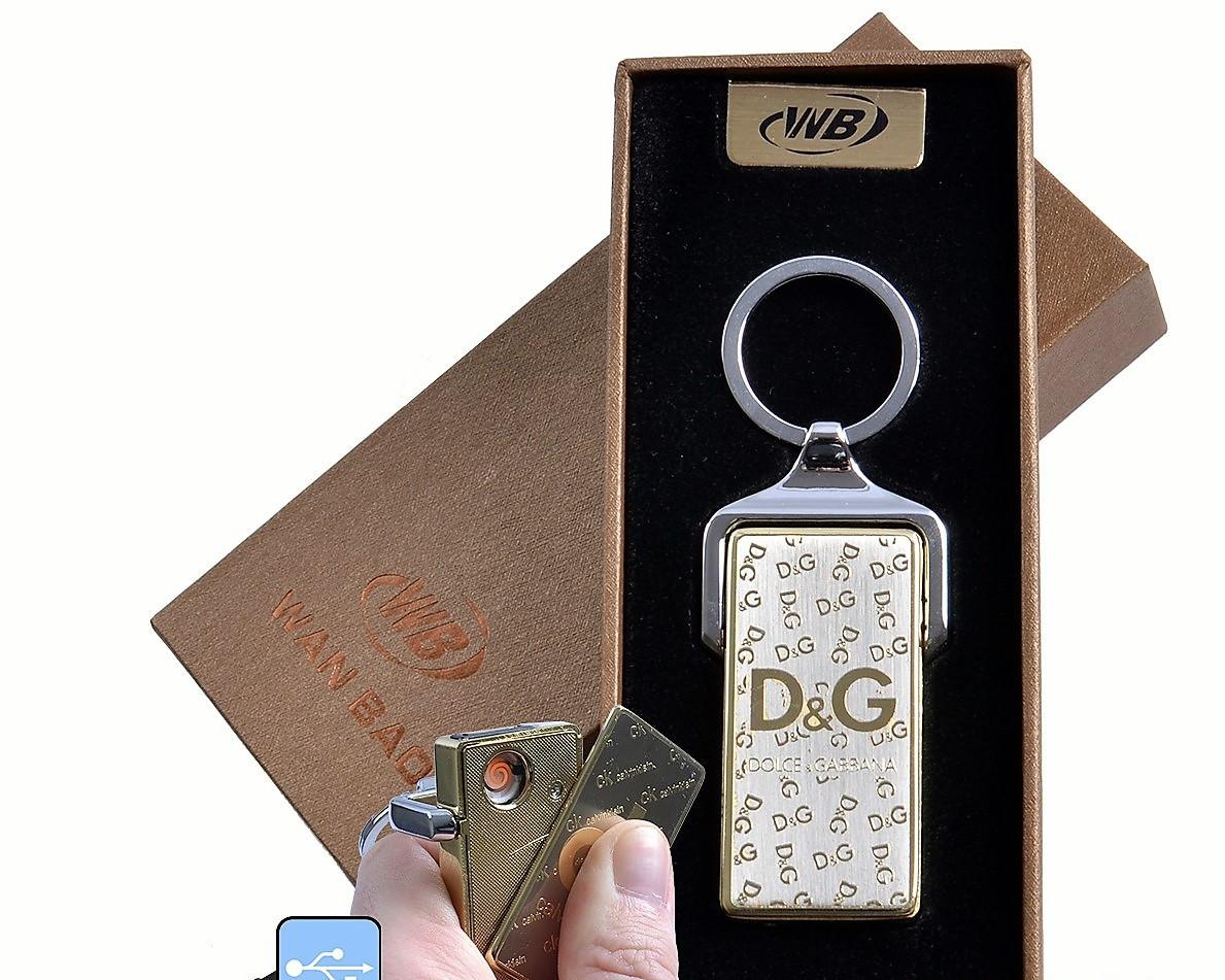 Спиральная USB зажигалка-брелок Dolce and Gabbana №4824-1, подарочная упаковка, спираль накаливания - Интернет магазин подарков и товаров для дома «Жораппа в Киеве