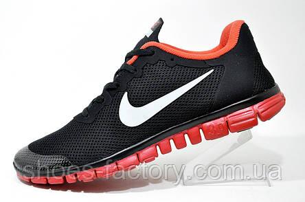 Кроссовки мужские в стиле Nike Free Run 3.0, V2 Black\Red, фото 2