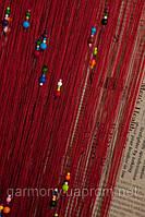 Шторы нити капитошка (Темно бордовый)