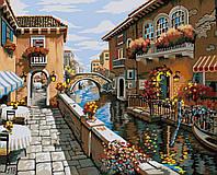 """GX 8518 """"Дворик в Венеции"""" Картина по номерам на холсте 40х50см без коробки, в пакете"""