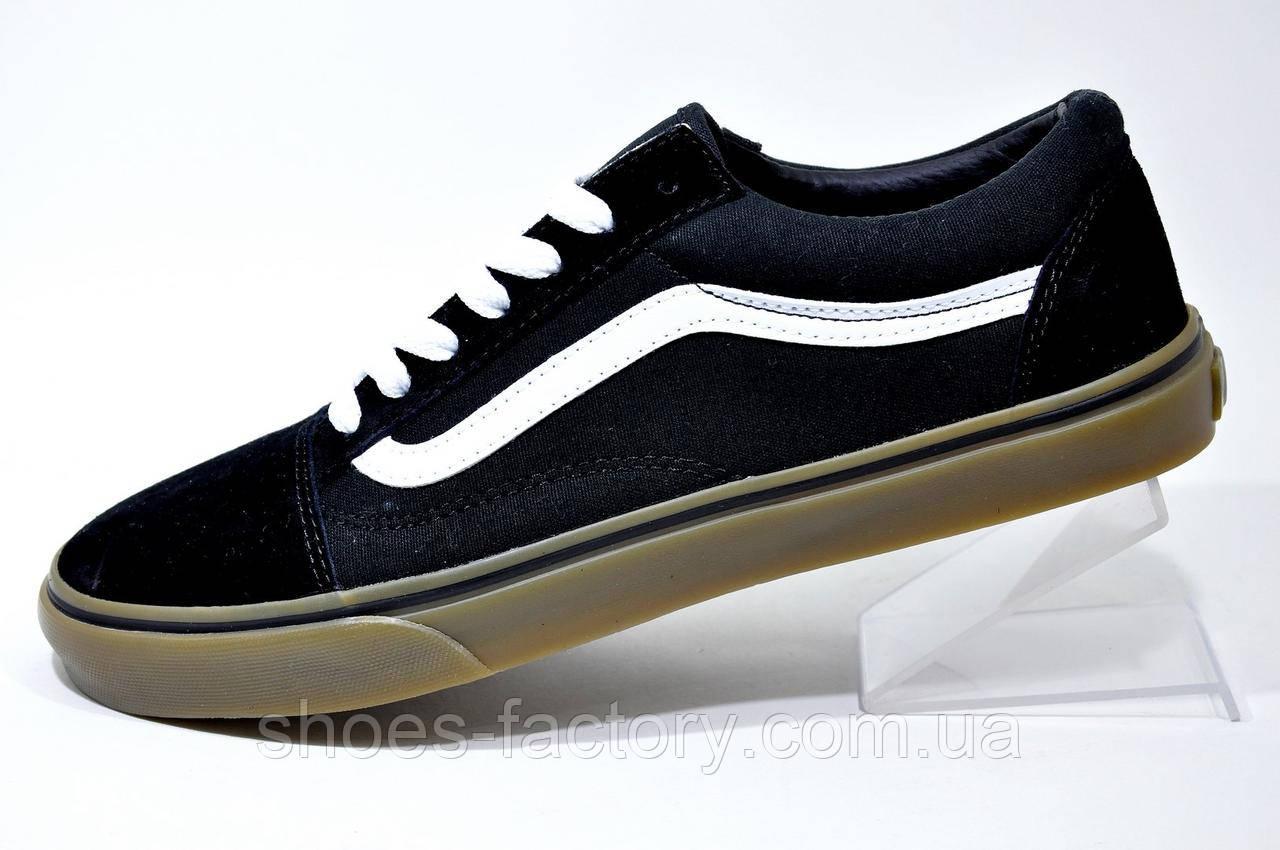 Кеды в стиле Vans Old Skool мужские, Black\White\Brown
