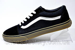 Кеды в стиле Vans Old Skool мужские, Black\White\Brown