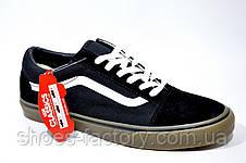 Кеды в стиле Vans Old Skool мужские, Black\White\Brown, фото 2