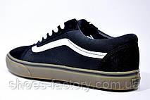 Кеды в стиле Vans Old Skool мужские, Black\White\Brown, фото 3