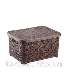 Контейнер для хранения Кружево ,30 л (3 цвета)
