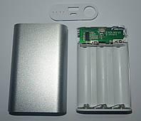 PowerBank 3x18650, серебро