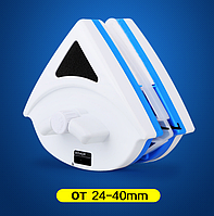 Магнитная щетка для мытья стеклопакетов с двух сторон 24-40 мм