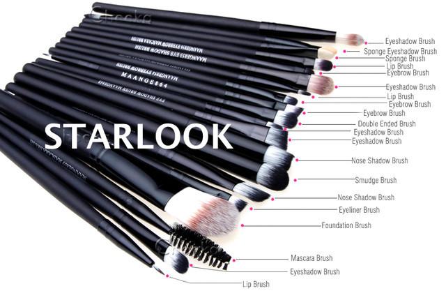 Набор из 20 профессиональных кистей для макияжа