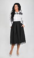 Стильная юбка миди 44.46.48 м 212 черная