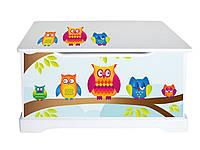 Комод- ящик для игрушек совы