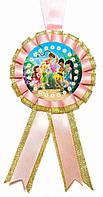 """Медаль детская """"Tinker Bell"""". Диаметр с бантом: 85мм."""