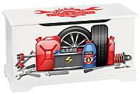 Комод- ящик для игрушек автосервис