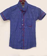Стильная детская рубашка с узором в расцветках 14186
