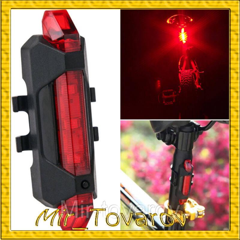 Велосипедный фонарик Rapid X USB AQY-093 белый/красный