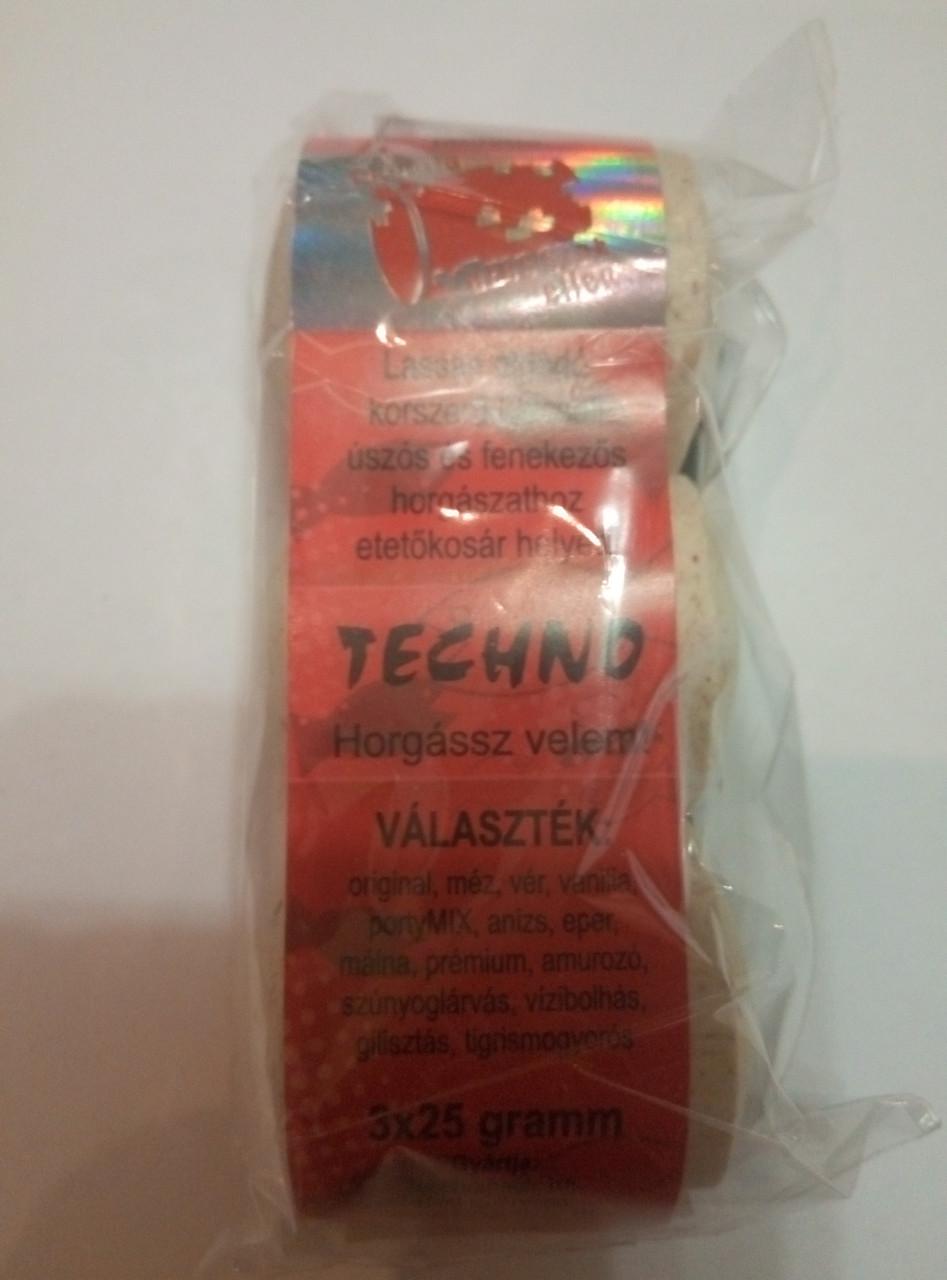 Прикормка для рыбы Технопланктон Techno (3х25г) клубника