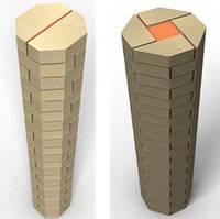 Варианты кладки колонн из кирпича Литос2