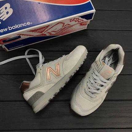 Женские кроссовки New Balance 574 Grey серые топ реплика, фото 2