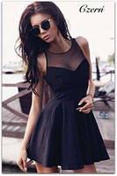 """Платье мини женское, пышное платье от груди, платье """"Солнце"""", грудь декольте сетка., фото 1"""