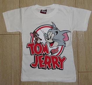 Футболка Том и Джери белая