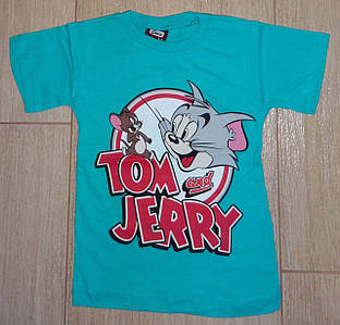 Футболка Том и Джери зеленая