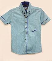 Рубашка для мальчика с коротким рукавом 14187