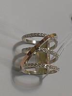 Серебряное кольцо с золотом  Николь