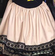 Красивая юбка для девочки из кожзама 60212