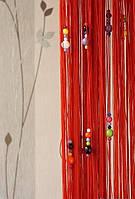 Шторы нити капитошка (Красный)