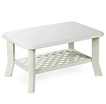Комплект садовый Veranda set белый (кресло - 2 шт, лавочка - 1 шт, стол - 1 шт), фото 3