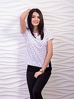 Легкая белая блуза из креп - шифона