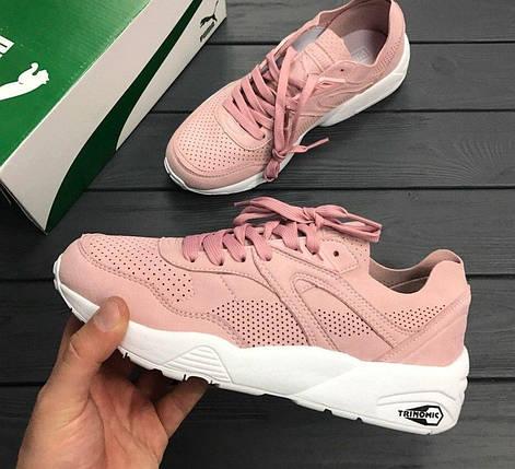 Женские кроссовки в стиле Puma Trinomic R698 Soft Pack Pink, фото 2