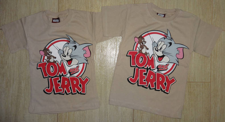 Футболка Том и Джери бежевая, фото 2