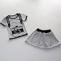 Комплект костюм летний Фотограф для девочки, стрейч-хлопок, р.р.52-64