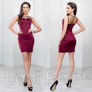 Женское облегающее платье с сеточкой №6010, фото 2