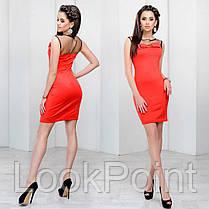 Женское облегающее платье с сеточкой №6010, фото 3