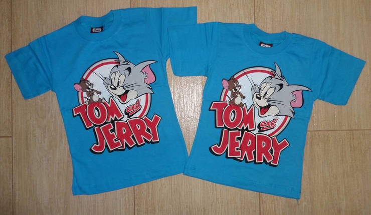 Футболка Том и Джери голубая, фото 2