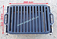 Решетка гриль чугунная для барбекю 260х360 мм., фото 1
