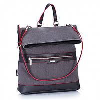 Сумка-рюкзак женский Dolly 366 городской молодежный закрывается на молнию разные цвета 32 см х 37 см х 12 см, фото 1