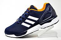 Кроссовки унисекс Adidas ZX Flux, Dark Blue\Orange