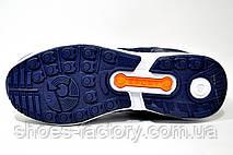 Кроссовки унисекс Adidas ZX Flux, Dark Blue\Orange, фото 3