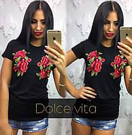 Модная футболка женская. Расцветки  DV-002.005.04