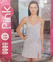 """Ночная женская сорочка на тонких бретельках  """"Pink Secret"""""""