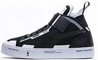 Мужские высокие кроссовки Puma Court Play x UEG - Black (Пума) черные