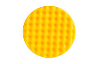 Желтый рельефный поролоновый полировальный диск 150 мм