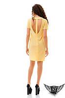 Платье борцовка, цвета желтое, ментоловое, бежевое, пудры, белое, открытая спина, все размеры
