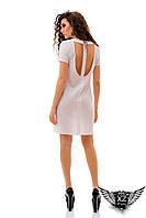 Платье борцовка,  с открытой спиной, цвета желтое, ментоловое, голубой, белое, все размеры
